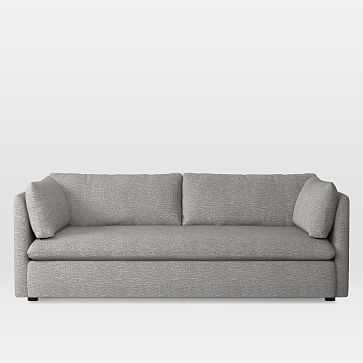 "Shelter Sleeper Sofa, Deco Weave, Feather Gray 85"" - West Elm"