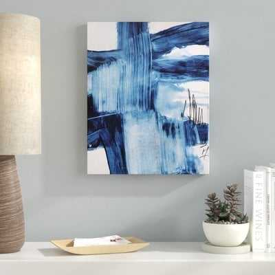 'Blue Abstract' Painting Print on Canvas - Wayfair