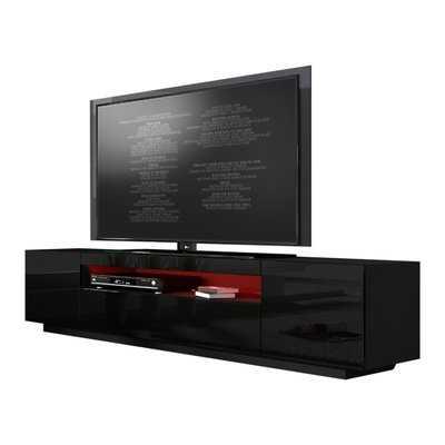 """Bustillos Modern High Gloss Front LED 79"""" TV Stand - Wayfair"""
