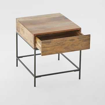 Industrial Storage Side Table, Raw Mango - West Elm