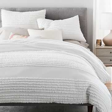 Candlewick Duvet Cover, Full/Queen, Stone White - West Elm