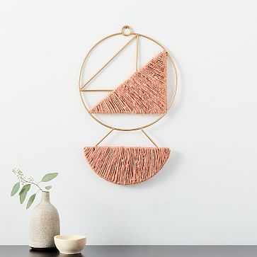 Hanging Medallion Wall Art, Pink - West Elm