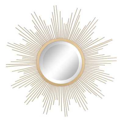 Wire Sunburst Antique Gold Decorative Mirror - Home Depot