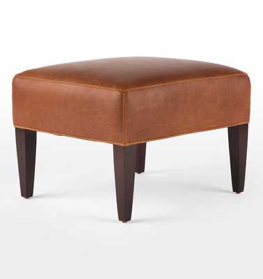 Clinton Leather Ottoman - Rejuvenation