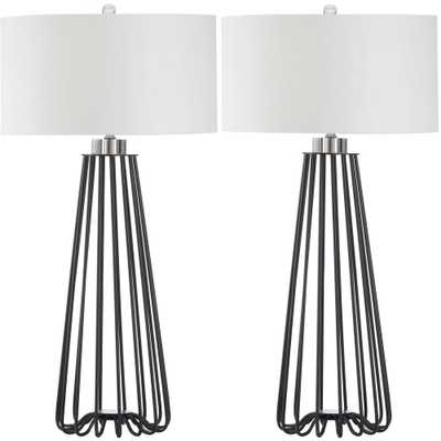 Safavieh Estill 33 in. Black Table Lamp (Set of 2) - Home Depot