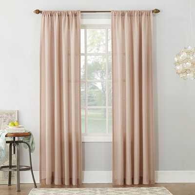 Berwick Linen Blend Solid Semi-Sheer Rod Pocket Single Curtain Panel - AllModern