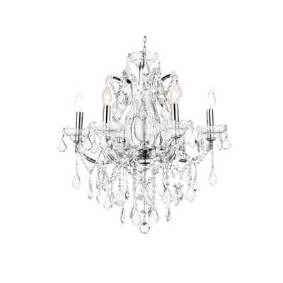 CWI Lighting Maria Theresa 6-Light Chrome Chandelier - Home Depot