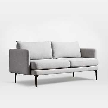 "Auburn Sofa 70"", Twill, Platinum, Dark Mineral - West Elm"