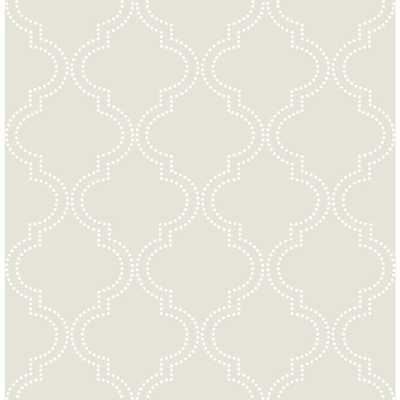 Taupe Quatrefoil Peel and Stick Wallpaper, Neutral - Home Depot