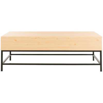 Safavieh Gina Light Oak/Black Coffee Table with Lift-Top - Home Depot
