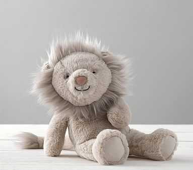 Taupe Lion Critter Plush - Pottery Barn Kids