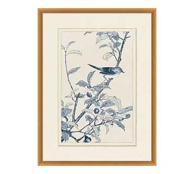 Birds In Blue Framed Paper Print, #1 - Pottery Barn