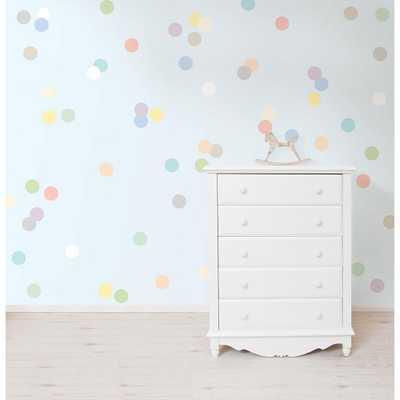 Pastel Confetti MiniPops Wall Decals, Pastels - Home Depot