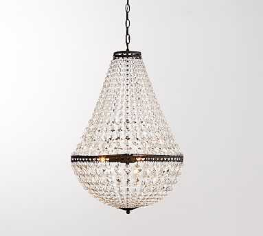 """Mia Faceted-Crystal Pendant, Large (19"""" Diameter) - Pottery Barn"""