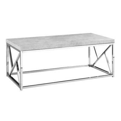 Monarch Specialties Grey Cement Look Coffee Table - Home Depot