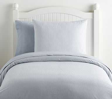 Organic Chambray Reversible Duvet Cover, Twin, Blue - Pottery Barn Kids