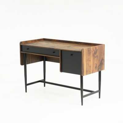 Harvey Park Grand Walnut Desk with File Drawer - Home Depot