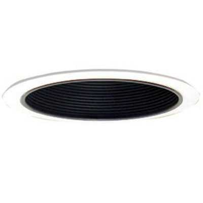 Design House 6 in. White Recessed Lighting Narrow Ring Trim with Black Baffle - Home Depot