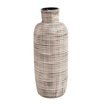 Vannorman Neutral Striped Ceramic Table Vase - Wayfair