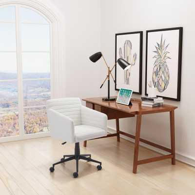 Bronx White Office Chair - Home Depot