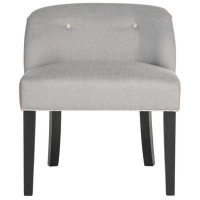 Bell Grey/Taupe Vanity Chair, Gray/Brown/Black - Home Depot