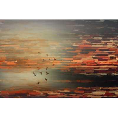 'Night Flight' by Parvez Taj Graphic Art Print on Wrapped Canvas - Wayfair