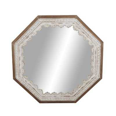 Charie Rustic Octagonal Wood Accent Mirror - Wayfair