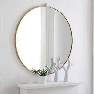 Yedinak Modern & Contemporary Distressed Accent Mirror - AllModern