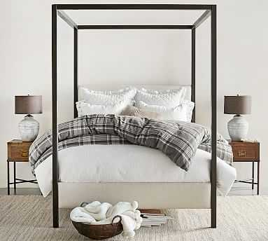 Atwell Metal Canopy Bed, King - Pottery Barn