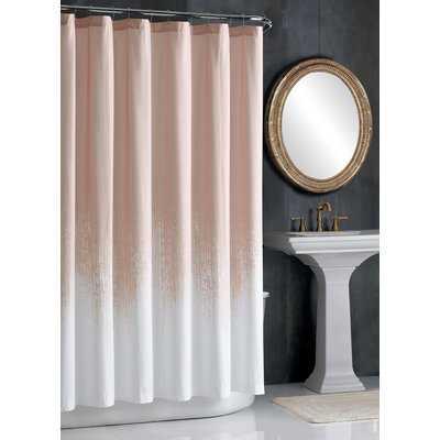 Lyon Blush Cotton Single Shower Curtain - AllModern