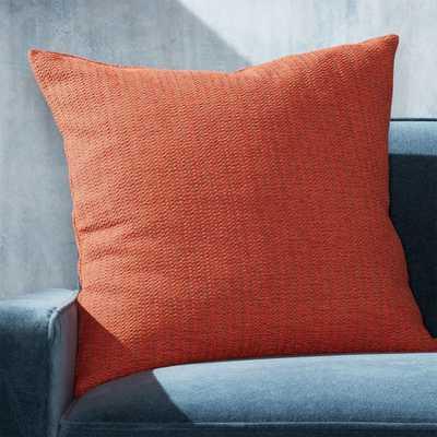 "Liano Orange Monochrome Pillow with Down-Alternative Insert 23"" - Crate and Barrel"