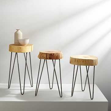 "Katie Gong Design Stump Side Table, 18"" - West Elm"