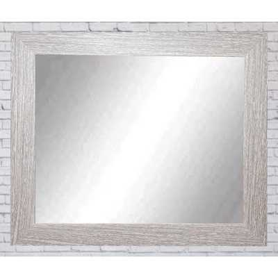 Brandtworks Rich Rustic Rectangle Brown/White Decorative Wall Mirror - Home Depot