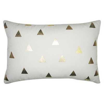 Diamond Lumbar Pillow Gold - 18 L x 12 W - Polyester fill insert - Target