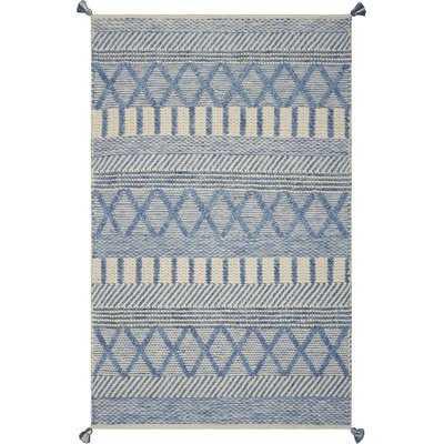 Armistead Geometric Handmade Flatweave Ivory/Blue Area Rug - AllModern