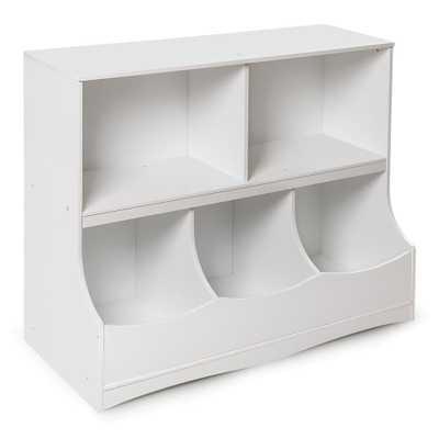 Multi-Bin 37 in. x 32 in. White 5-Cube Organizer - Home Depot