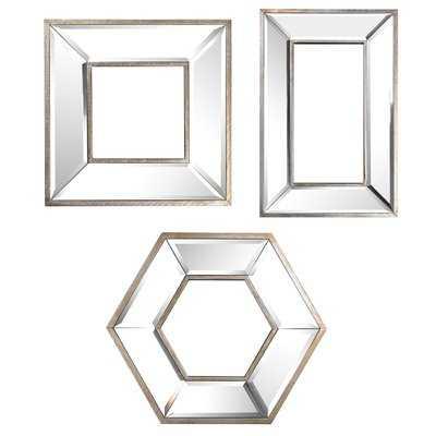 3 Piece Titania Mirror Set - Wayfair