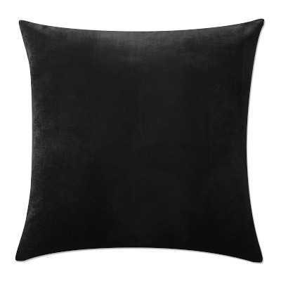 """Velvet Pillow Cover, 22"""" X 22"""", Black - Williams Sonoma"""