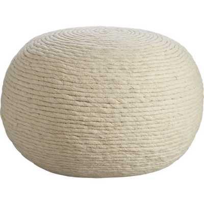 Wool Wrap Pouf - CB2