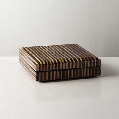 Mar Rattan Striped Box Small - CB2