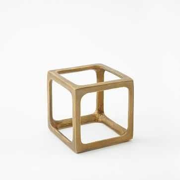 Metal Cube Object, Small - West Elm
