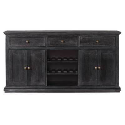 Aldridge Washed Black Buffet - Home Depot