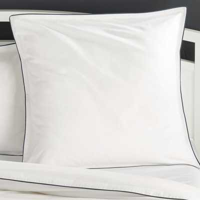 Haven Euro Black Percale Pillow Sham - Crate and Barrel