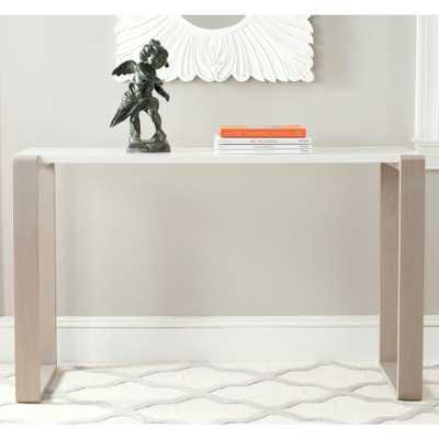 Bartholomew White and Grey Console Table, White & Grey - Home Depot