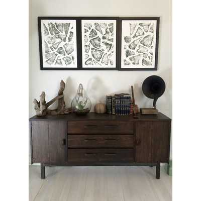 'Tree Ring Prints of Stacked Firewood' Graphic Art Set of 3 - Wayfair