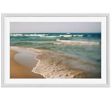 """Fresh Water Framed Print by Alicia Bock, 28x42"""", Ridged Distressed Frame, White, Mat - Pottery Barn"""