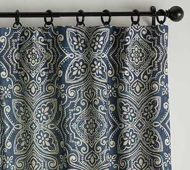 "Emina Print Curtain, Blue Multi,  50""x84"" - Pottery Barn"