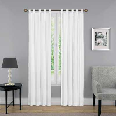 Barretti Solid Sheer Tab Top Curtain Panels - AllModern