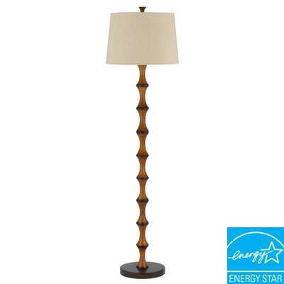 CAL Lighting 60 in. Brown Resin Bamboo Floor Lamp - Home Depot