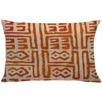 Caitlin Mud Cloth Linen Throw Pillow - Wayfair